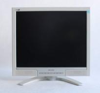 Flatskjerm til PC: Philips 190B8CS, 19toms, 1280x1024, VGA/DVI, pent brukt