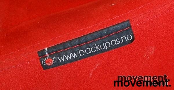 Kontorstol: BackApp ergonomisk kontorstol i rød mikrofiber, pent brukt bilde 5
