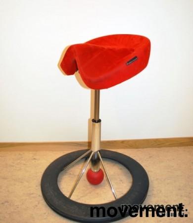 Kontorstol: BackApp ergonomisk kontorstol i rød mikrofiber, pent brukt bilde 2