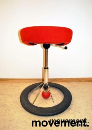 Kontorstol: BackApp ergonomisk kontorstol i rød mikrofiber, pent brukt bilde 4
