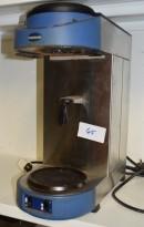 Metos proff kaffetrakter for storhusholdning, modell M200 i blått/rustfritt, fast vanntilkopling, varmeplate, pent brukt