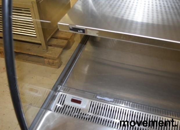 Bruskjøleskap / produktkjøler fra Norpe i rustfritt/glass 120,5cm bredde, 131,5cm høyde, pent brukt bilde 6