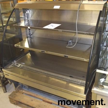 Bruskjøleskap / produktkjøler fra Norpe i rustfritt/glass 120,5cm bredde, 131,5cm høyde, pent brukt bilde 9