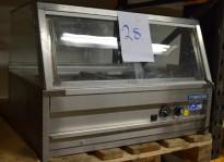 Metos varmeskap / varmemonter med varmluft, for benkeplassering, 80cm bredde, pent brukt