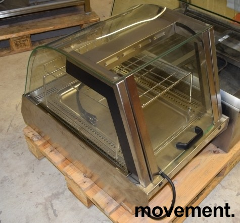 Matvarmer for benkeplassering fra Unis, lekker modell i rustfritt/glass, 48cm bredde, pent brukt bilde 8