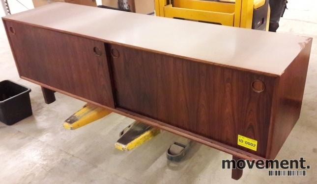 Fabelaktig Retro 60-talls-møbel i palisander:Skjenk / TV-benk med skyvedører XA-04
