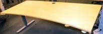 Bordplate for skrivebord i bjerk, 160x90cm, magebue, pent brukt