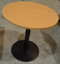 Lite, rundt bord i bøk, Ø=70cm, høyde 73cm, pent brukt
