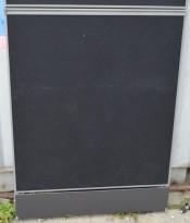 Kinnarps Zonit skillevegg i sort stoff, 80x110cm, pent brukt
