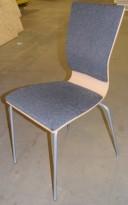 Stablebar konferansestol fra EFG HovDokka i bjerk/grått, Graf-serie, pent brukt