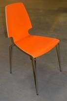 IKEA Vilmar konferansestol i orange laminat / krom, pent brukt