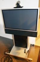 Tandberg / Cisco Telepresence 3000-serie videokonferanse, komplett med flatskjerm på tralle, pent brukt - NY PRIS