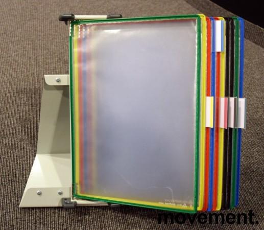 Tarifold desktop oppslagslommer for skrivebord, for 10x2stk A4, pent brukt bilde 2