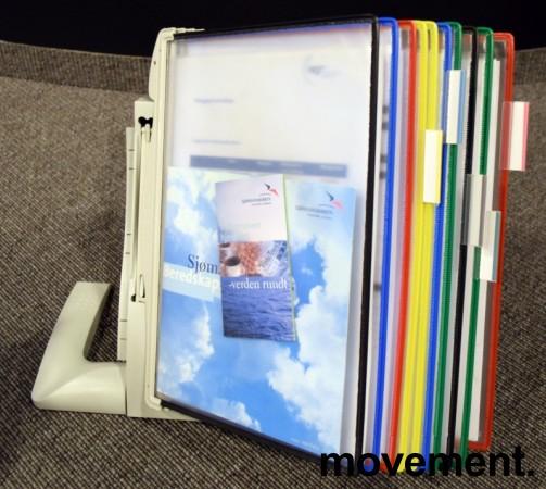 Tarifold desktop oppslagslommer for skrivebord, for 10x2stk A4, pent brukt bilde 1