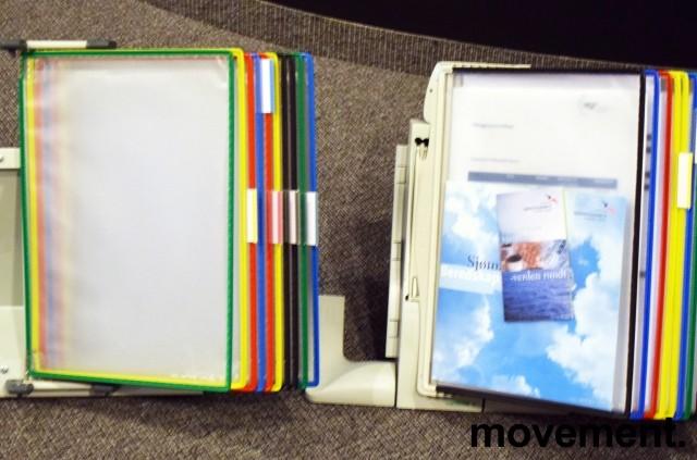 Tarifold desktop oppslagslommer for skrivebord, for 10x2stk A4, pent brukt bilde 3