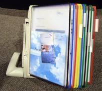 Tarifold desktop oppslagslommer for skrivebord, for 10x2stk A4, pent brukt