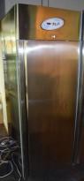 Kjøleskap for storkjøkken i rustfritt stål fra Frenox, 70cm bredde, 201cm høyde, pent brukt