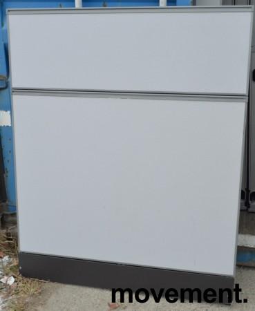 Kinnarps Zonit skillevegg i grått stoff, 120x150cm, pent brukt bilde 1
