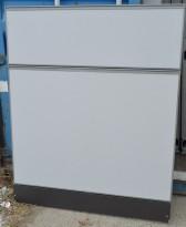 Kinnarps Zonit skillevegg i grått stoff, 120x150cm, pent brukt