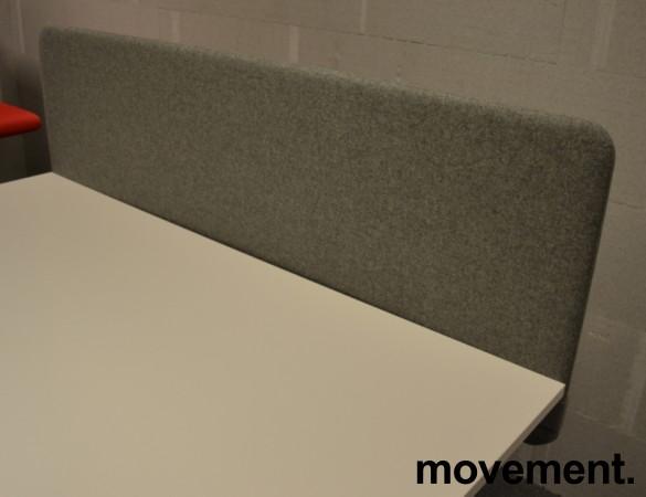 Bordskillevegg i grått stoff, 160x60cm, NY / UBRUKT bilde 2