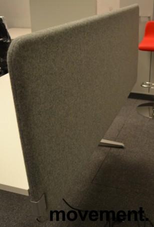 Bordskillevegg i grått stoff, 160x60cm, NY / UBRUKT bilde 3