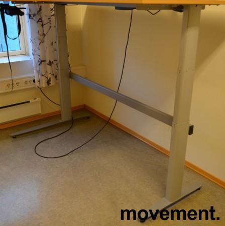Understell til skrivebord med elektrisk hevsenk fra Linak, 180x120cm, venstreløsning, pent brukt bilde 1