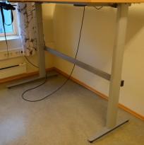 Understell til skrivebord med elektrisk hevsenk fra Linak, 180x120cm, venstreløsning, pent brukt
