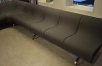 ForaForm Gelato modulbasert sittegruppe / loungegruppe / sittebenk i grått stoff, design: Olav Eldøy, se liste over deler, pent brukt