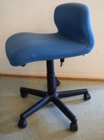 Bioscan Tilt Dorsal ergonomisk kontorstol i blått ullstoff, pent brukt