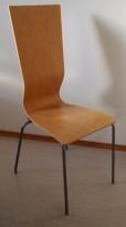 Konferansestol fra EFG i bøk / alugrå ben, 105,5cm høyde, modell GRAF, pent brukt