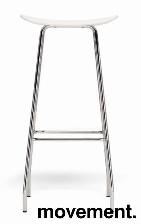 Barkrakk / barstol, Cornflake fra OFFECCT, hvit / krom, 82cm høyde, pent brukt bilde 1