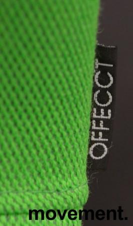 Barstol / barkrakk fra Offecct i grønt stoff / krom, 79cm sittehøyde, pent brukt bilde 3