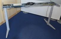 Understell for skrivebord med elektrisk hevsenk fra Edsbyn, teleskop, passer plater 120cm og større, pent brukt