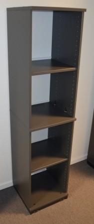 Kinnarps smal ringpermreol E-serie i mørk grå, 4 permhøyder,  164cm høyde, pent brukt bilde 2