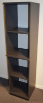 Kinnarps smal ringpermreol E-serie i mørk grå, 4 permhøyder,  164cm høyde, pent brukt