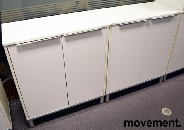 ikea effektiv hvitt skap ringpermreolmed d rer 84 5 cm bredde 94 5 h yde pent brukt. Black Bedroom Furniture Sets. Home Design Ideas
