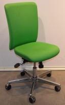Savo Apollo konferansestol / kontorstol i grønt stoff, pent brukt