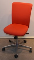 Savo Apollo konferansestol / kontorstol i rødt stoff, pent brukt