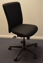 Savo Apollo konferansestol / kontorstol i sort stoff, pent brukt