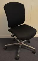 Savo Maxikon konferansestol / kontorstol i sort stoff, pent brukt