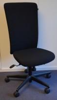 Savo Apollo konferansestol / kontorstol med høy rygg i sort stoff, pent brukt