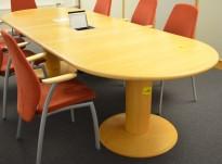 Møtebord / konferansebord Kinnarps Remus i bøk, 285x110cm, passer 8-10personer, pent brukt