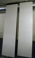 Topp-plate i hvit laminat, 242x60cm, for bruk på toppen av benkeskap 29864 el.l., pent brukt