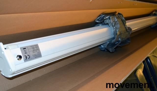 Euroscreen elektrisk lerret, ca 180cm bredde, (191,5cm bredde med kasse), pent brukt, OBS! Mangler kabel bilde 1