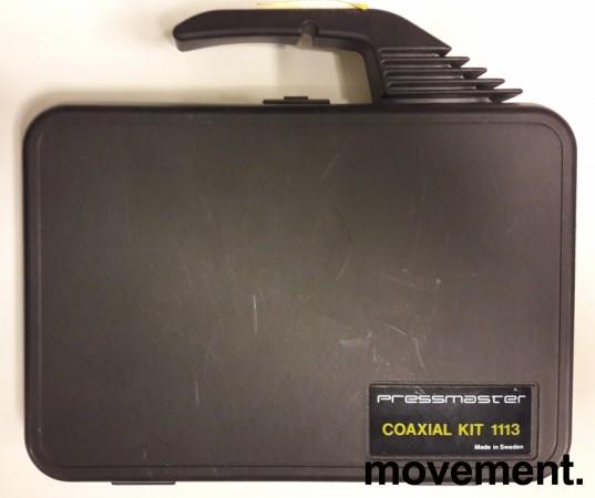 Pressmaster Coaxial Kit 1113 med Skal-Master-tang, og Pressmaster DCC1113 Crimptang etc, pent brukt bilde 2
