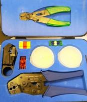Pressmaster Coaxial Kit 1113 med Skal-Master-tang, og Pressmaster DCC1113 Crimptang etc, pent brukt