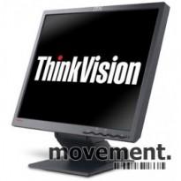 IBM Thinkvision L190 flatskjerm til PC 19toms, mod 9329-AB9, VGA, pent brukt