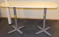 Ståbord / møtebord for stående møter, Kinnarps T-serie i hvitt, 180x90cm, 110cm høyde, pent brukt