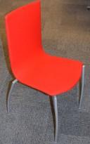 Kinnarps Citra 316 konferansestol / stablestol i rødt stoff (ullfilt), pent brukt