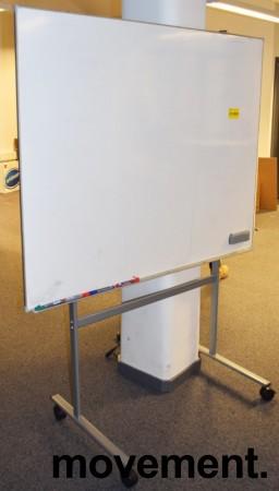 Whiteboard på hjul / stativ, 150x120cm whiteboard, 162cm bredde, 196cm høyde, pent brukt bilde 2